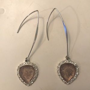 Jewelry - Drop Earrings, silver and pink, from Kohl's